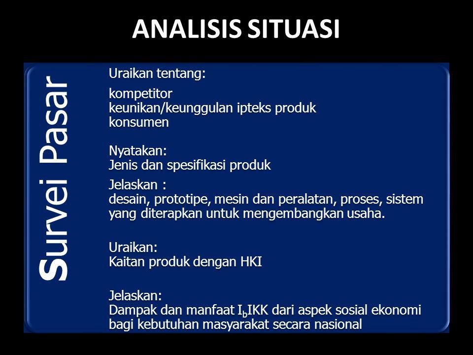 ANALISIS SITUASI Survei Pasar