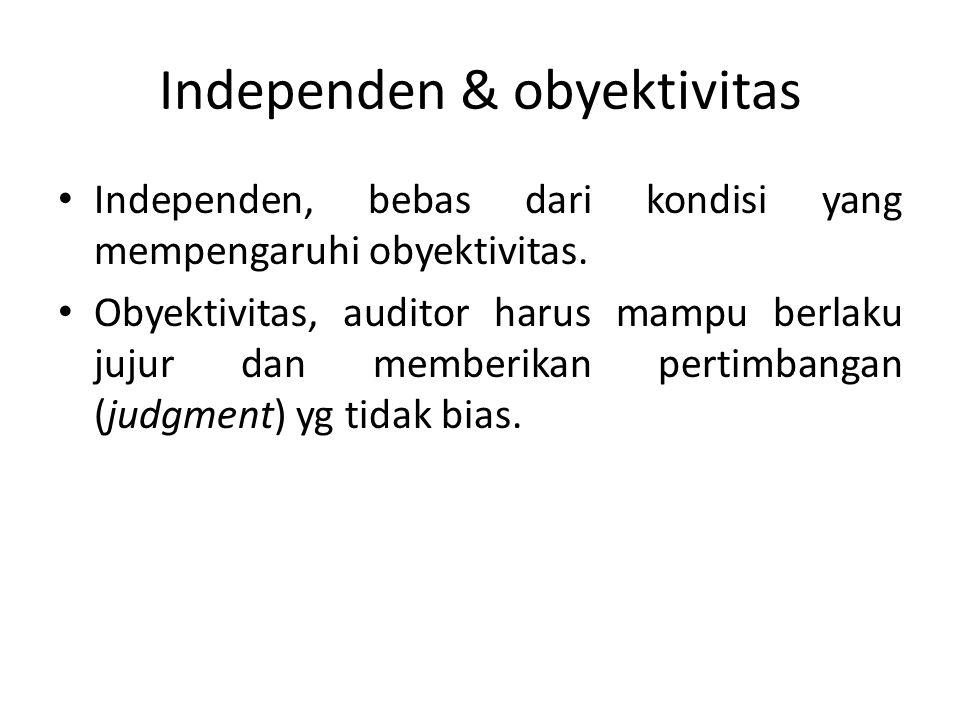 Independen & obyektivitas