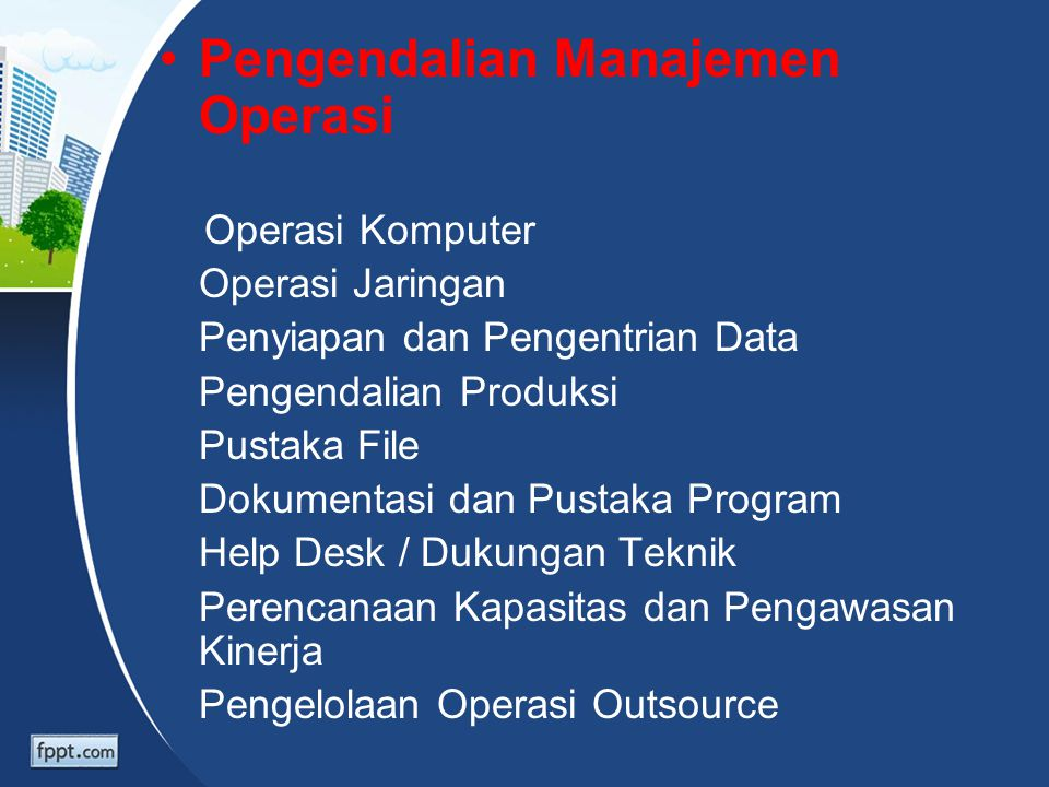 Pengendalian Manajemen Operasi