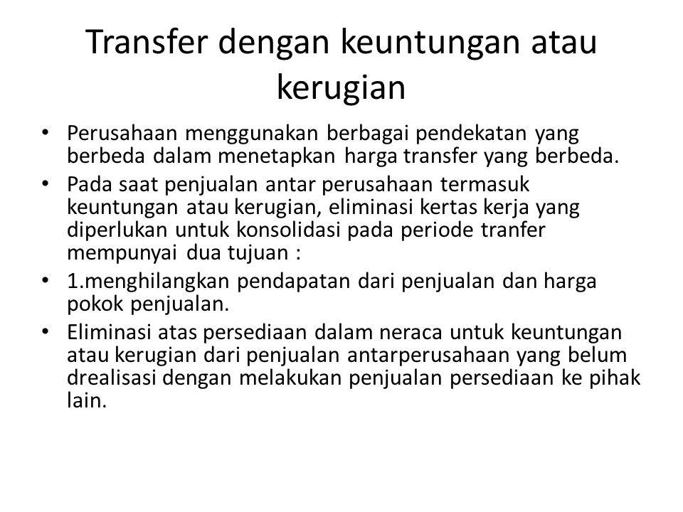 Transfer dengan keuntungan atau kerugian