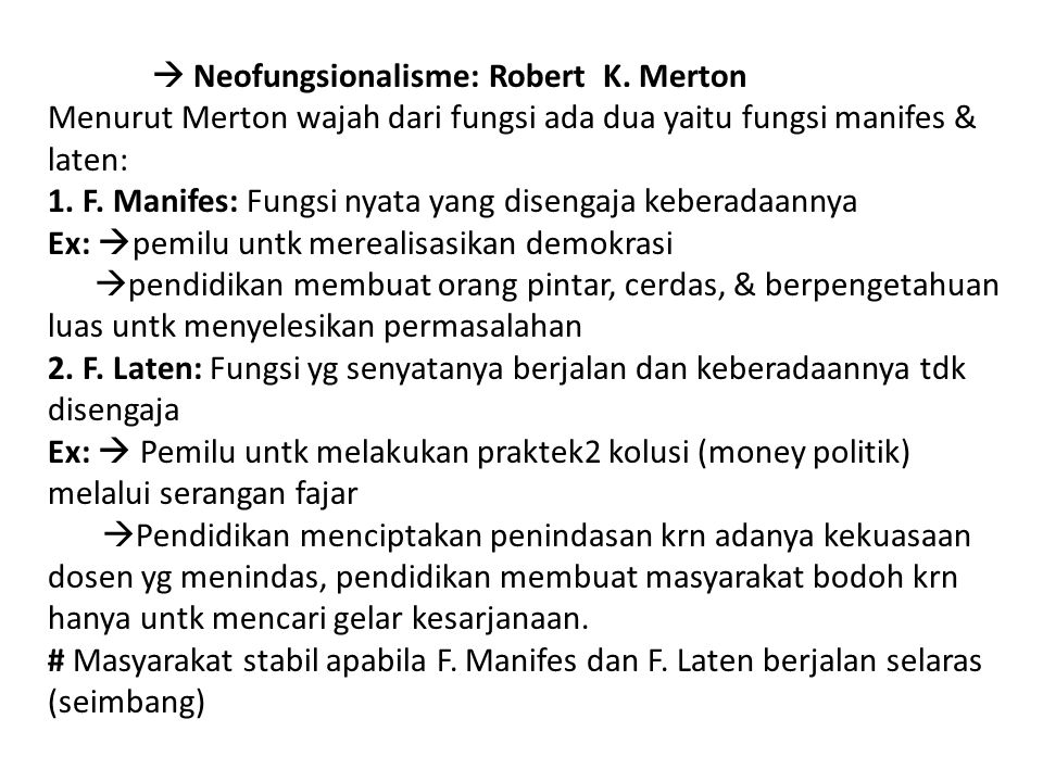  Neofungsionalisme: Robert K
