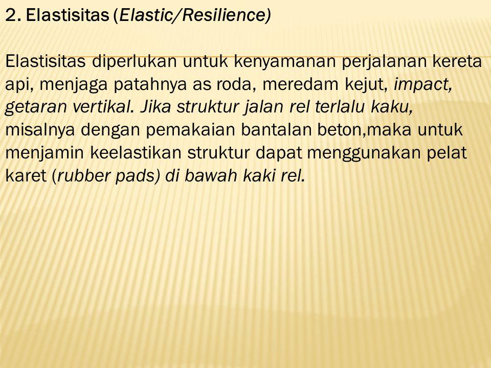 2. Elastisitas (Elastic/Resilience)