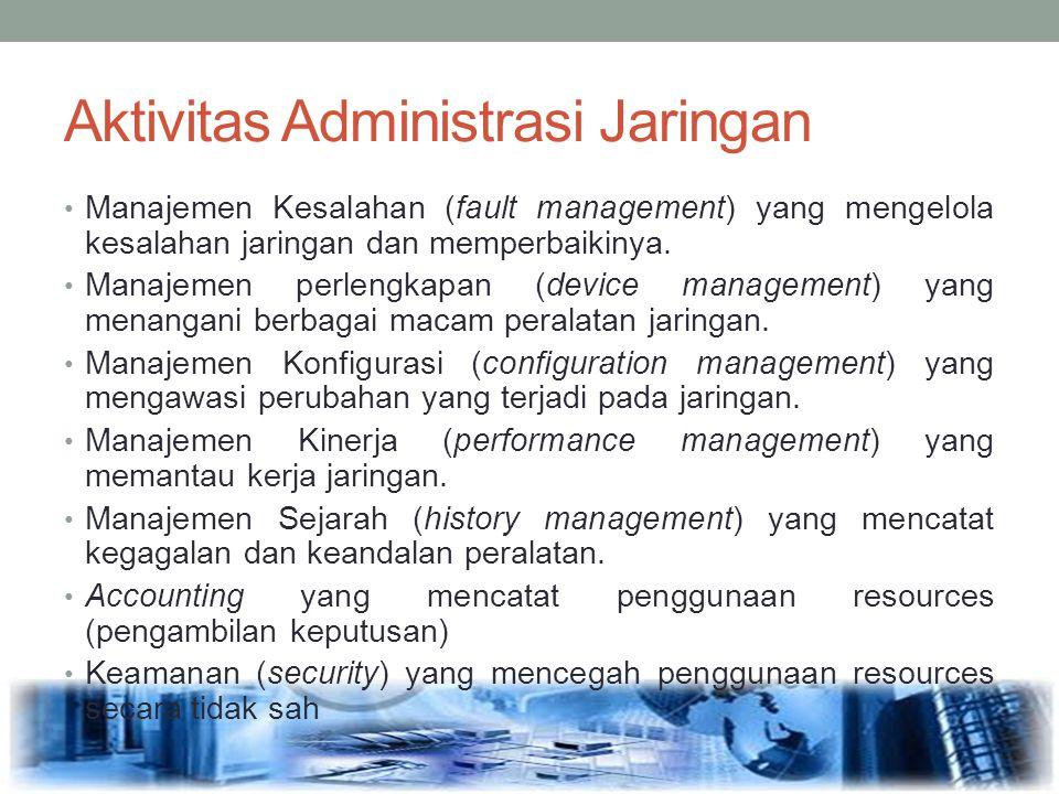 Aktivitas Administrasi Jaringan