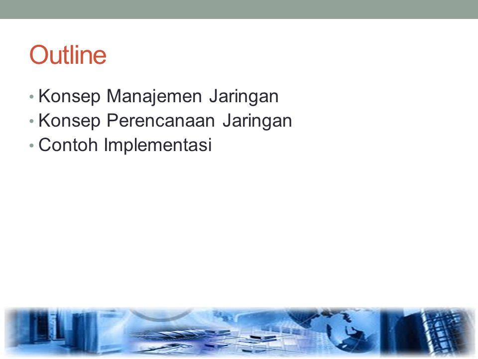 Outline Konsep Manajemen Jaringan Konsep Perencanaan Jaringan