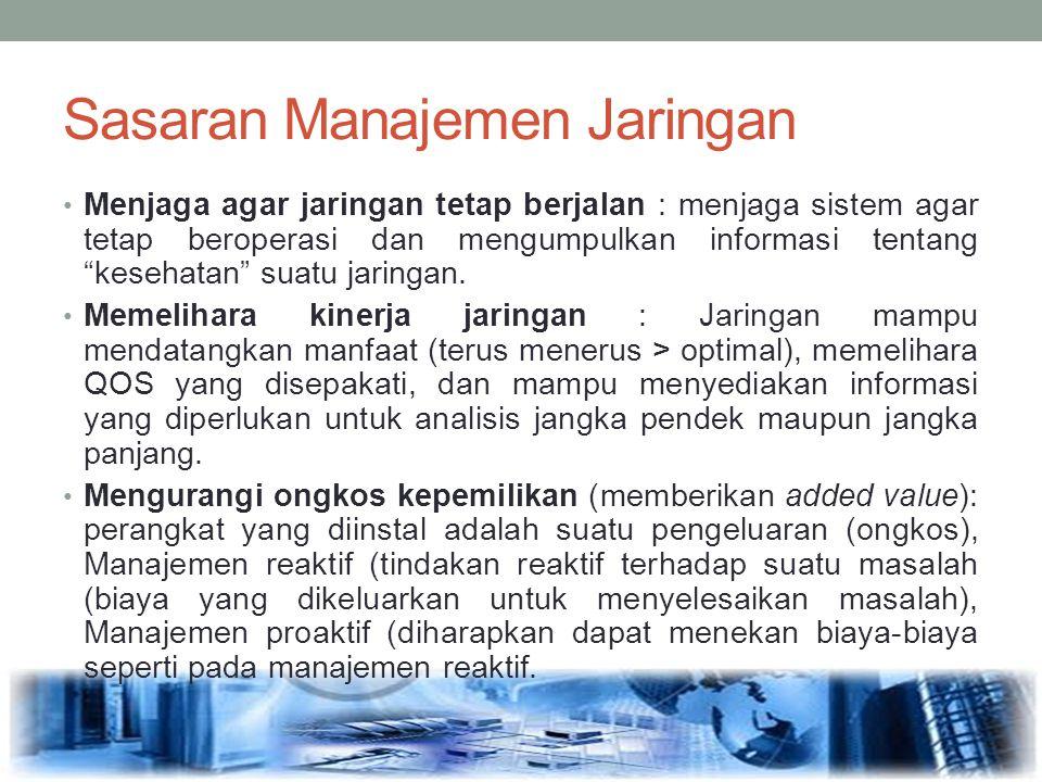 Sasaran Manajemen Jaringan