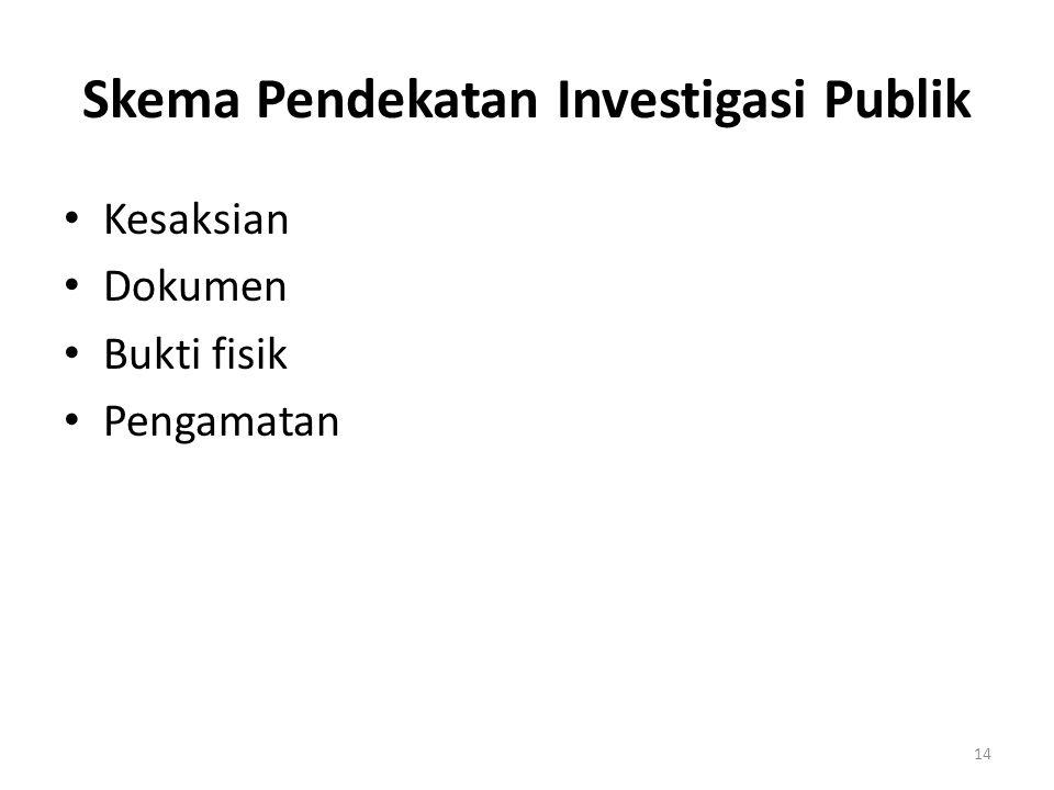 Skema Pendekatan Investigasi Publik