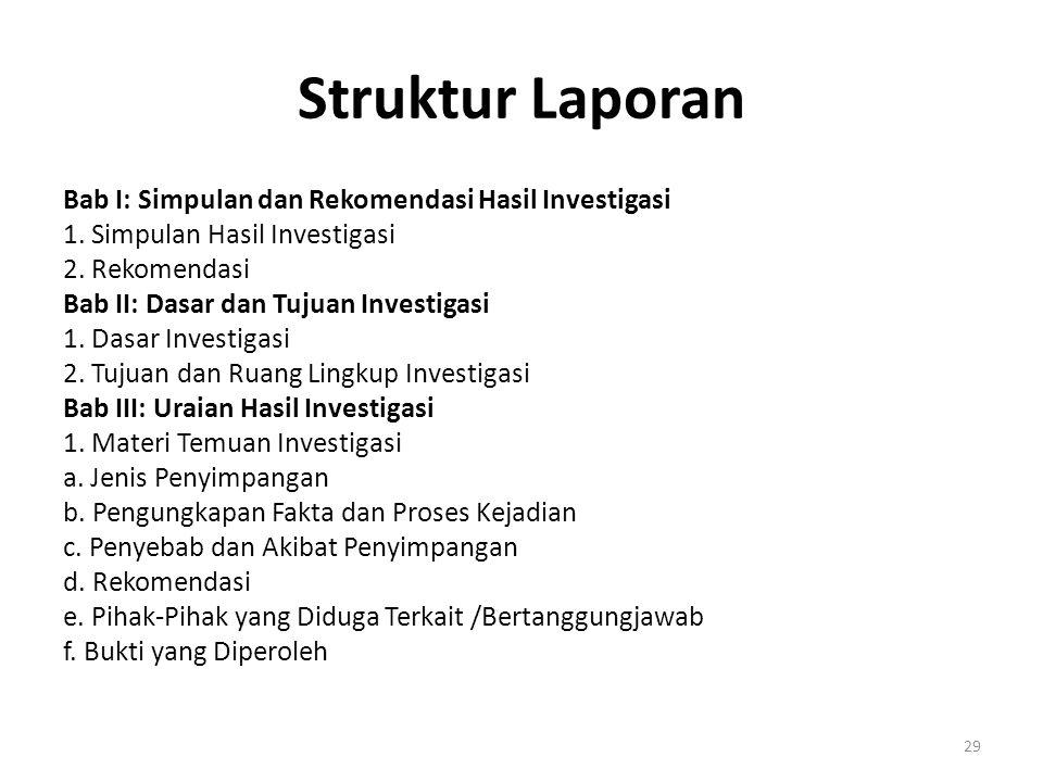 Struktur Laporan