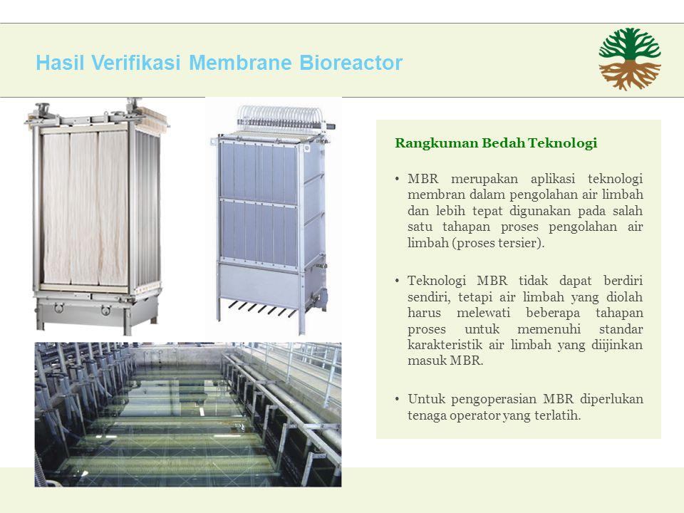 Hasil Verifikasi Membrane Bioreactor
