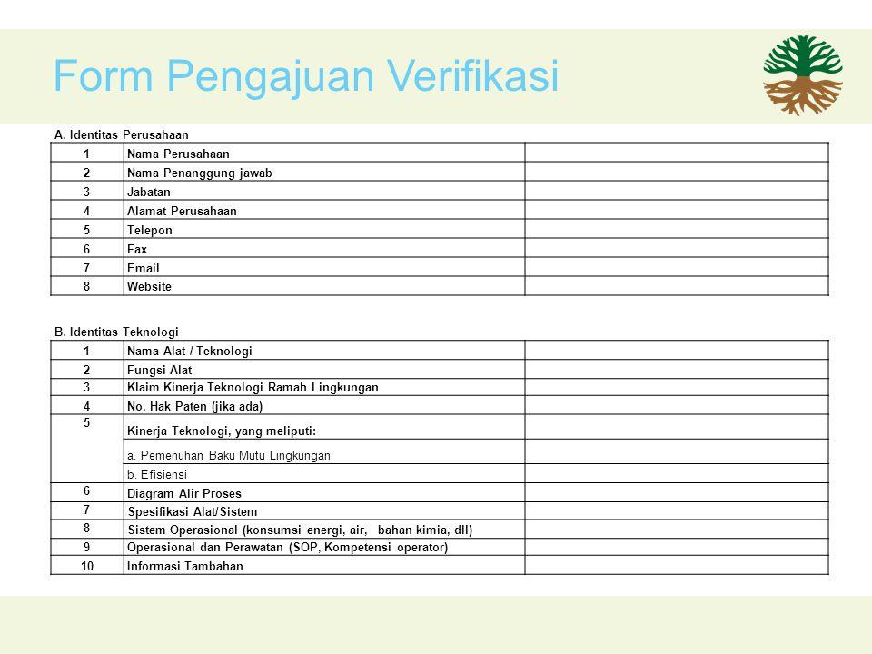 Form Pengajuan Verifikasi