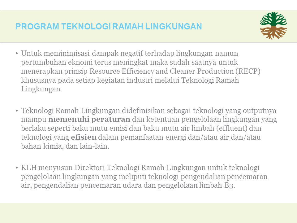 PROGRAM TEKNOLOGI RAMAH LINGKUNGAN