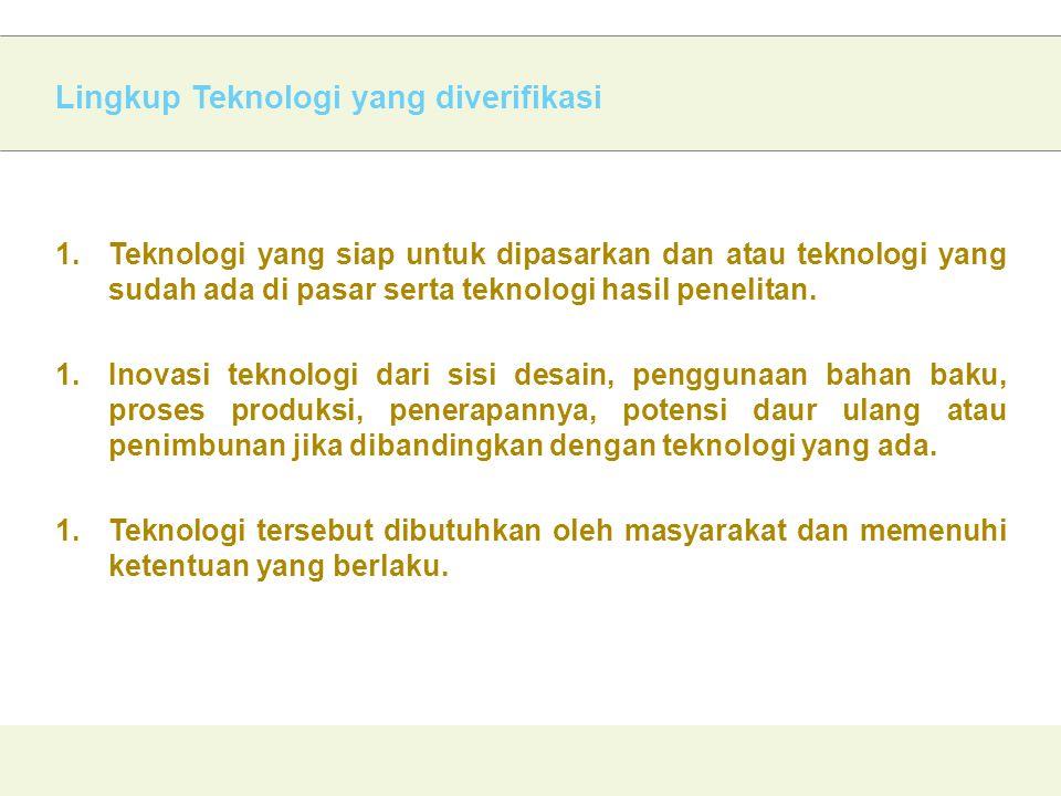 Lingkup Teknologi yang diverifikasi