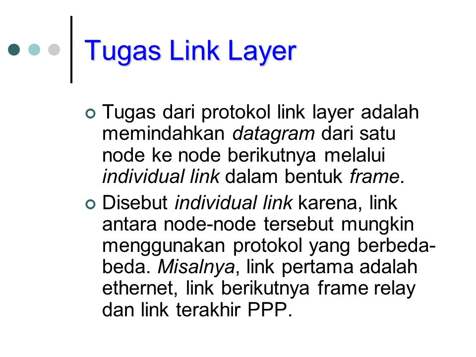 Tugas Link Layer