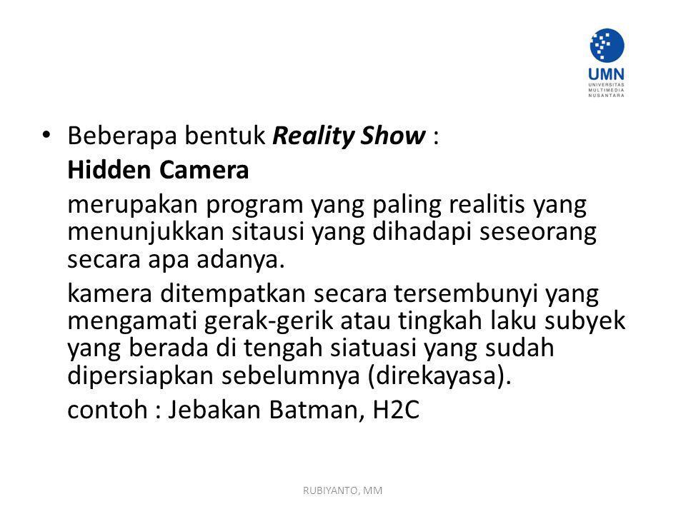 Beberapa bentuk Reality Show : Hidden Camera