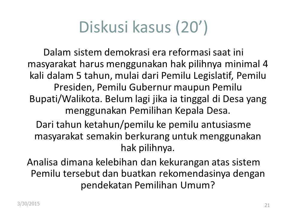 Diskusi kasus (20')