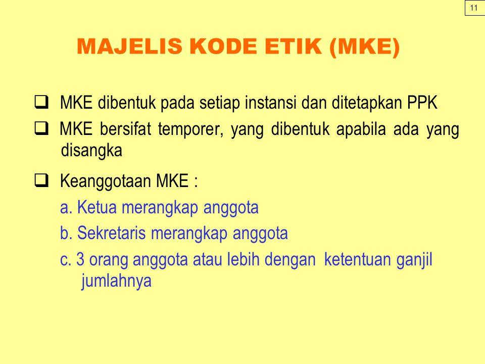 MAJELIS KODE ETIK (MKE)