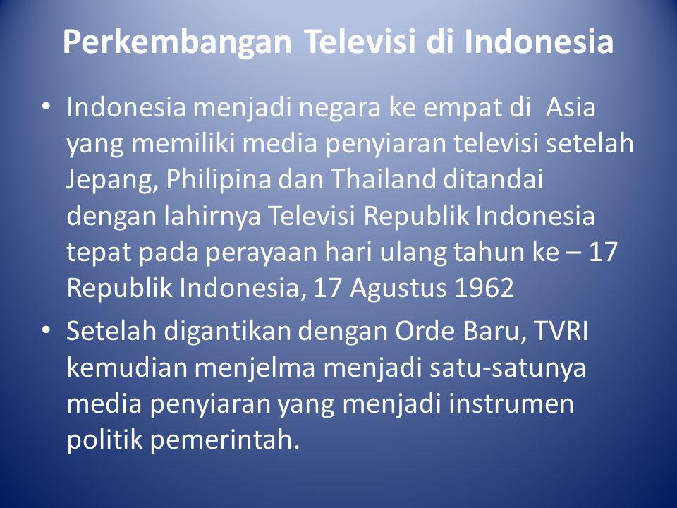Perkembangan Televisi di Indonesia