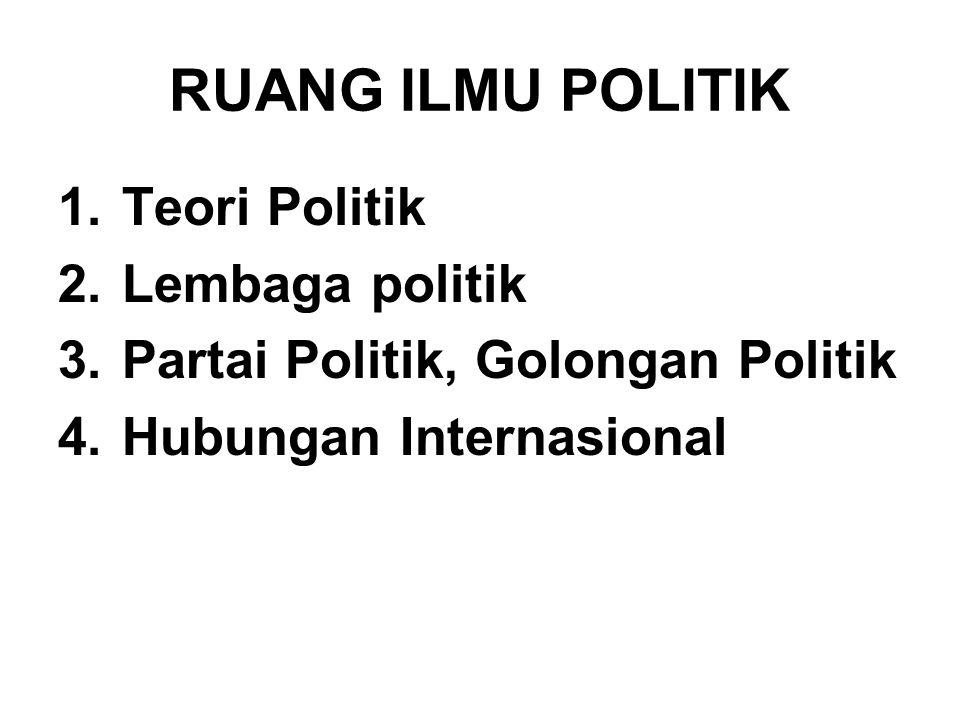 RUANG ILMU POLITIK Teori Politik Lembaga politik