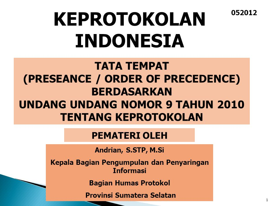 KEPROTOKOLAN INDONESIA