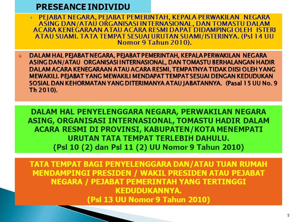 PRESEANCE INDIVIDU