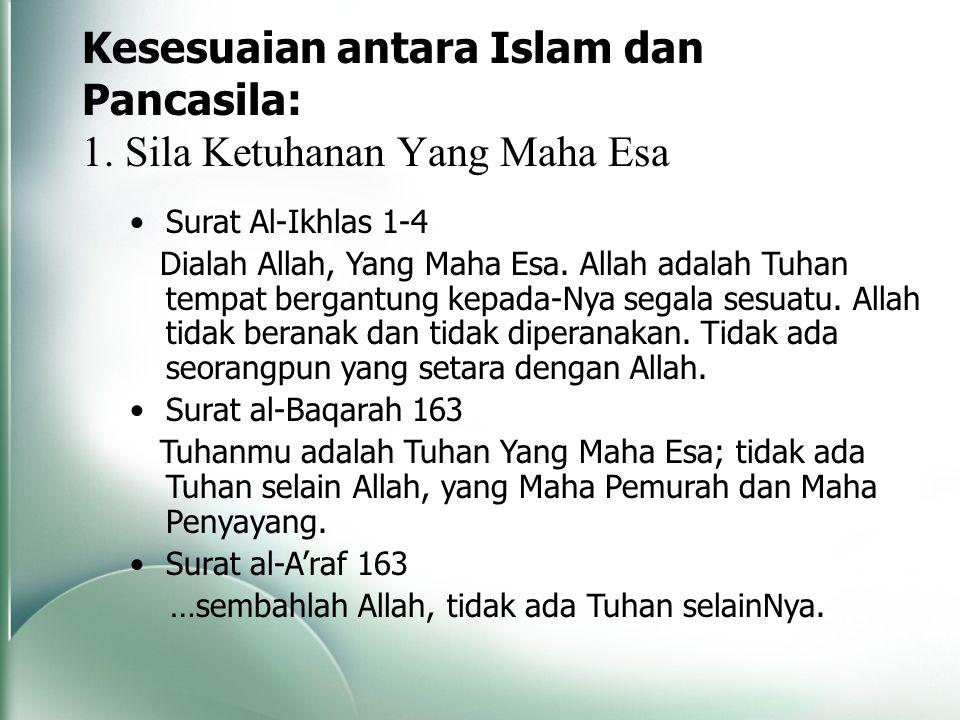 Kesesuaian antara Islam dan Pancasila: