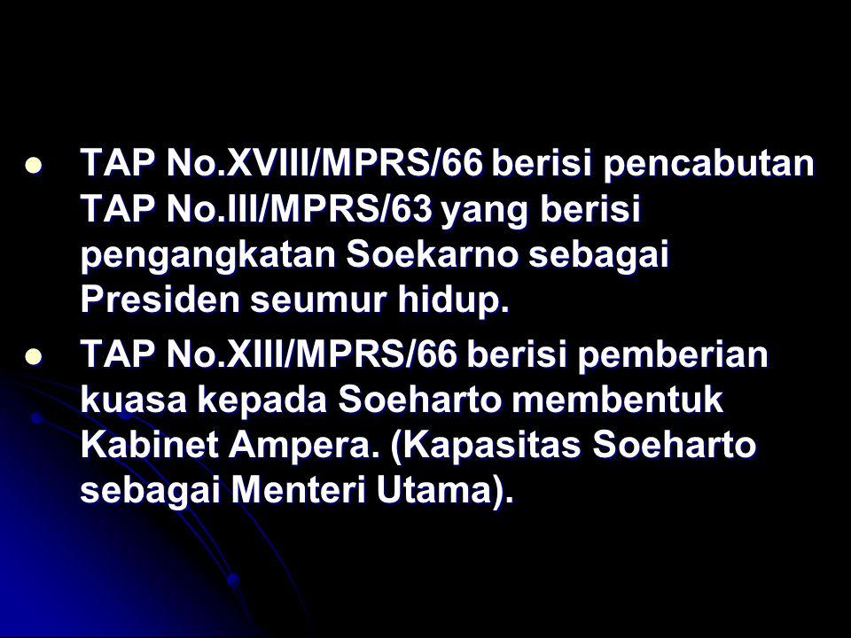TAP No. XVIII/MPRS/66 berisi pencabutan TAP No