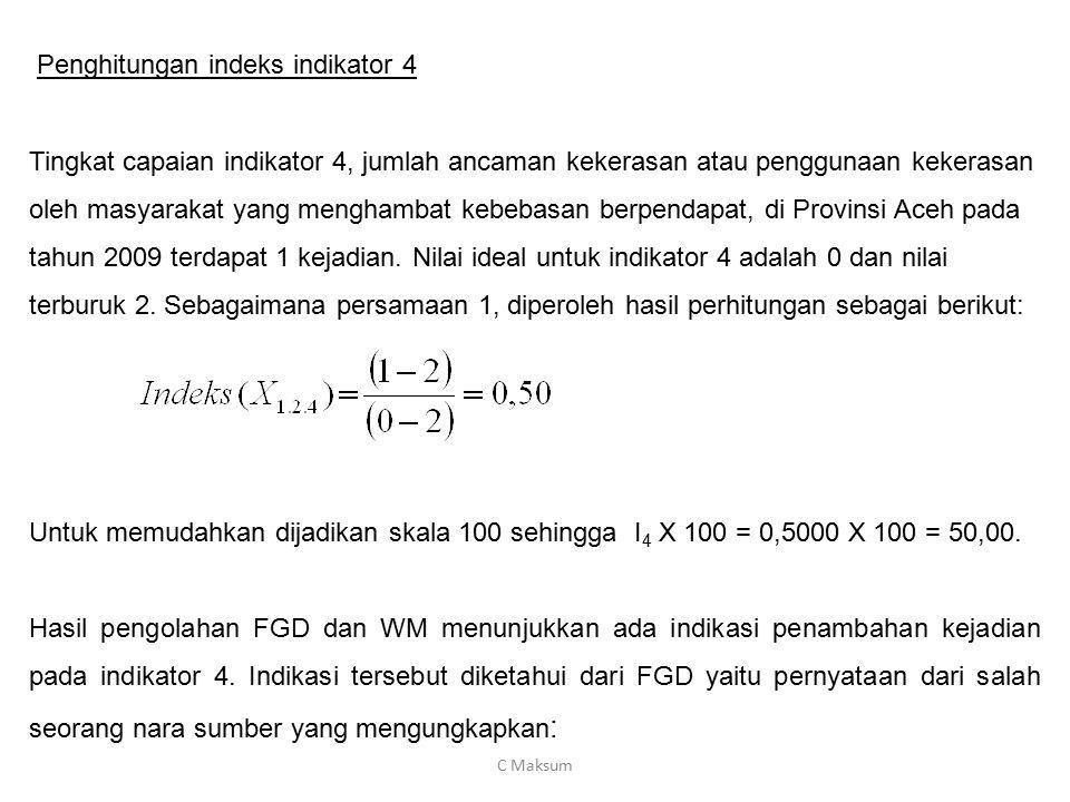 Penghitungan indeks indikator 4