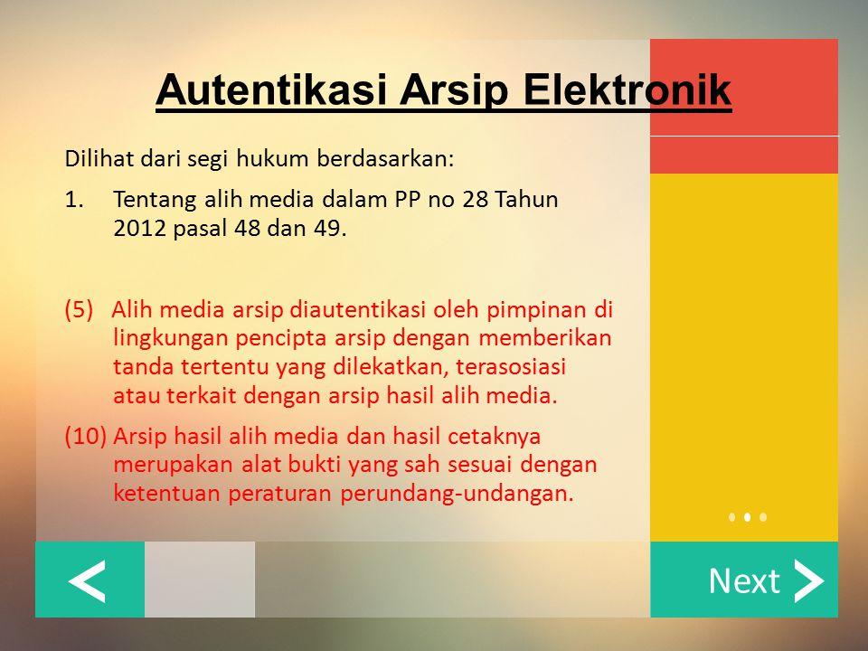 Autentikasi Arsip Elektronik