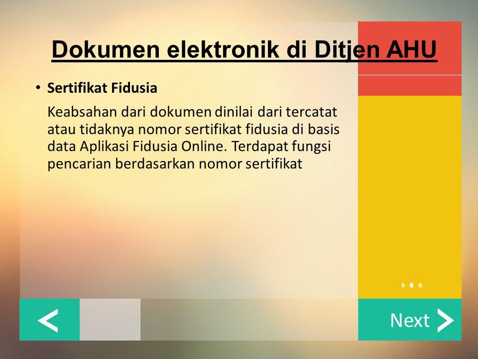 Dokumen elektronik di Ditjen AHU