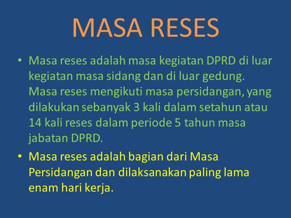 MASA RESES