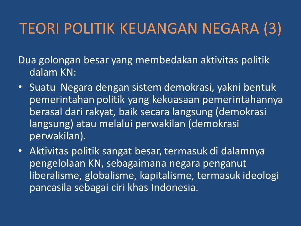 TEORI POLITIK KEUANGAN NEGARA (3)