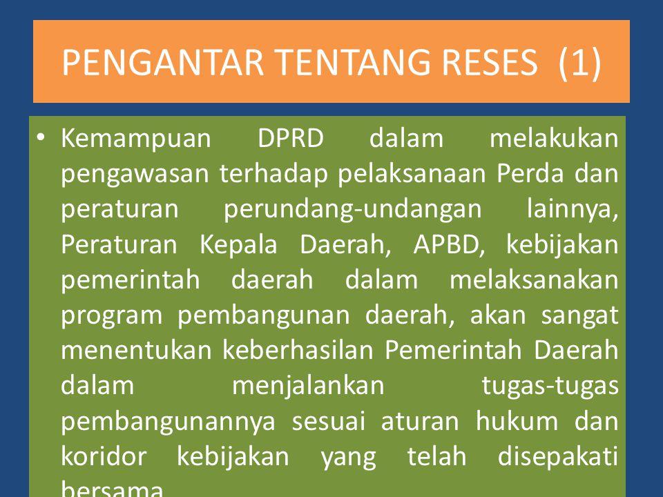 PENGANTAR TENTANG RESES (1)