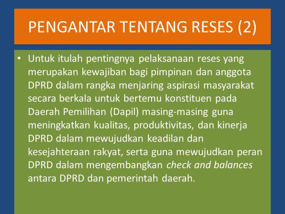 PENGANTAR TENTANG RESES (2)