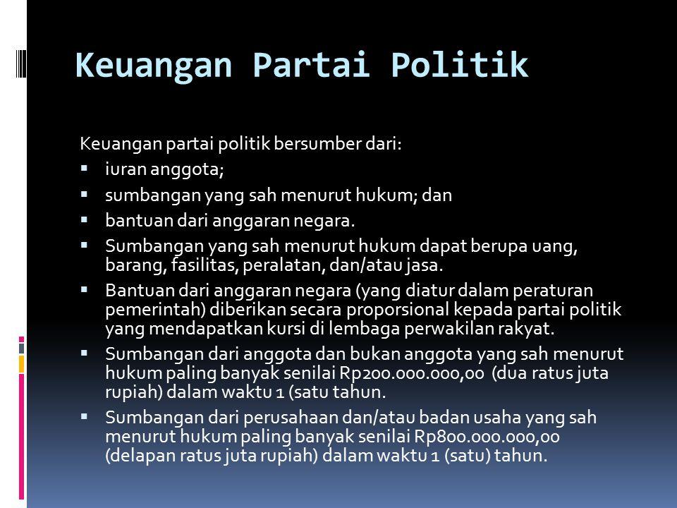 Keuangan Partai Politik
