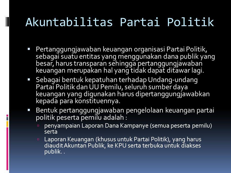 Akuntabilitas Partai Politik