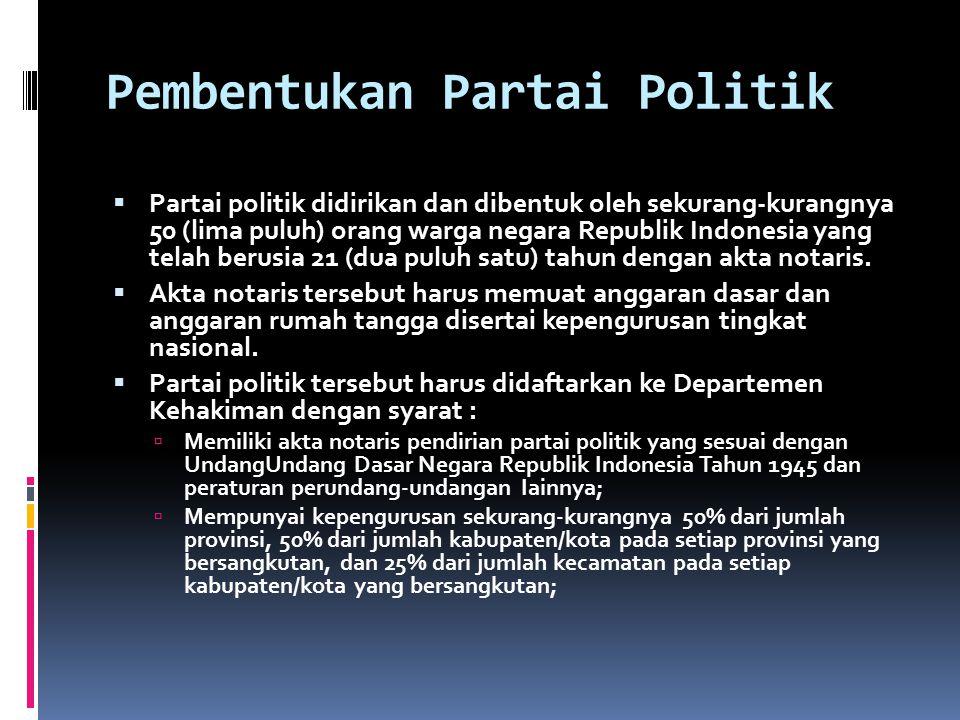 Pembentukan Partai Politik