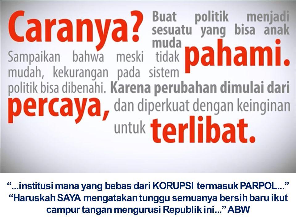 . institusi mana yang bebas dari KORUPSI termasuk PARPOL