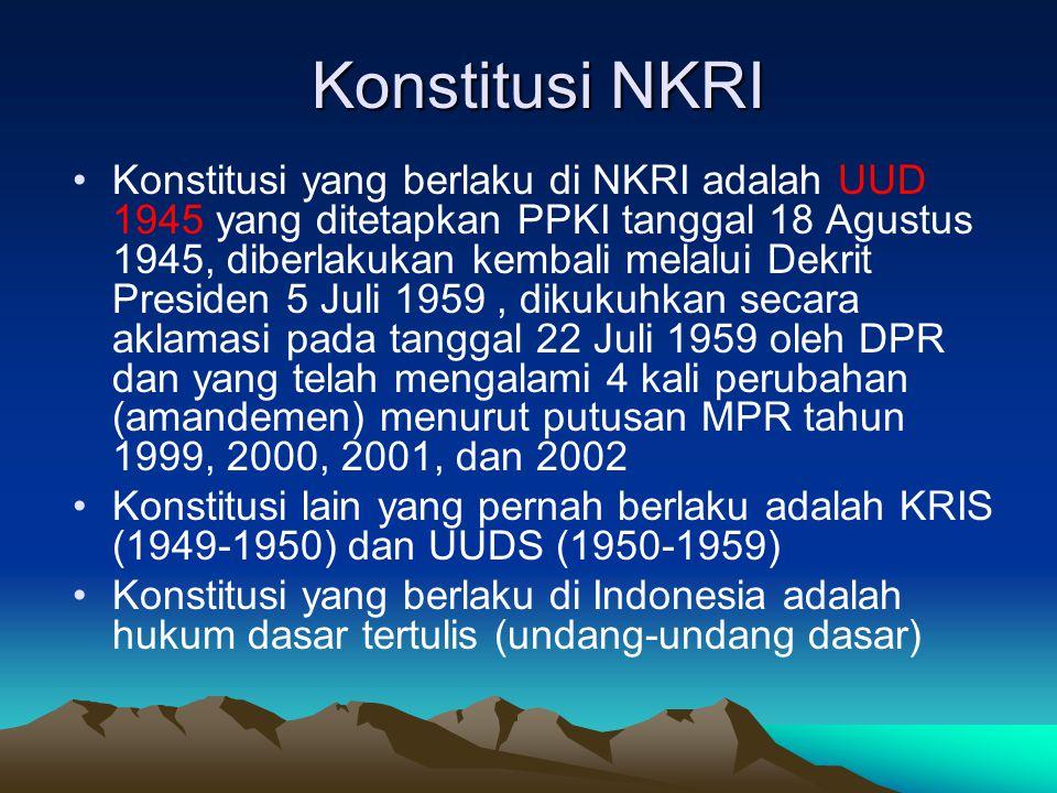 Konstitusi NKRI