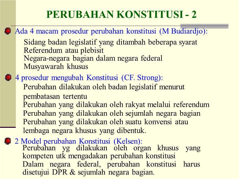 PERUBAHAN KONSTITUSI - 2
