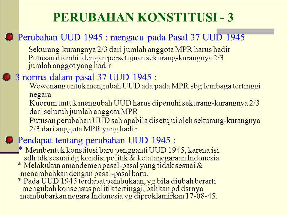 PERUBAHAN KONSTITUSI - 3