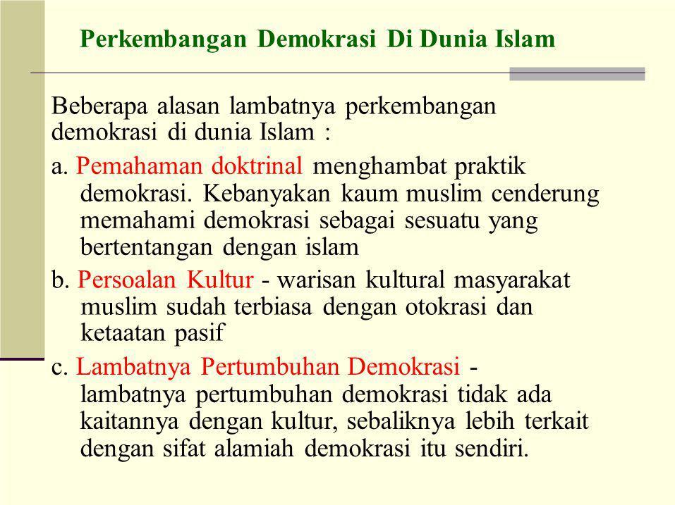 Perkembangan Demokrasi Di Dunia Islam