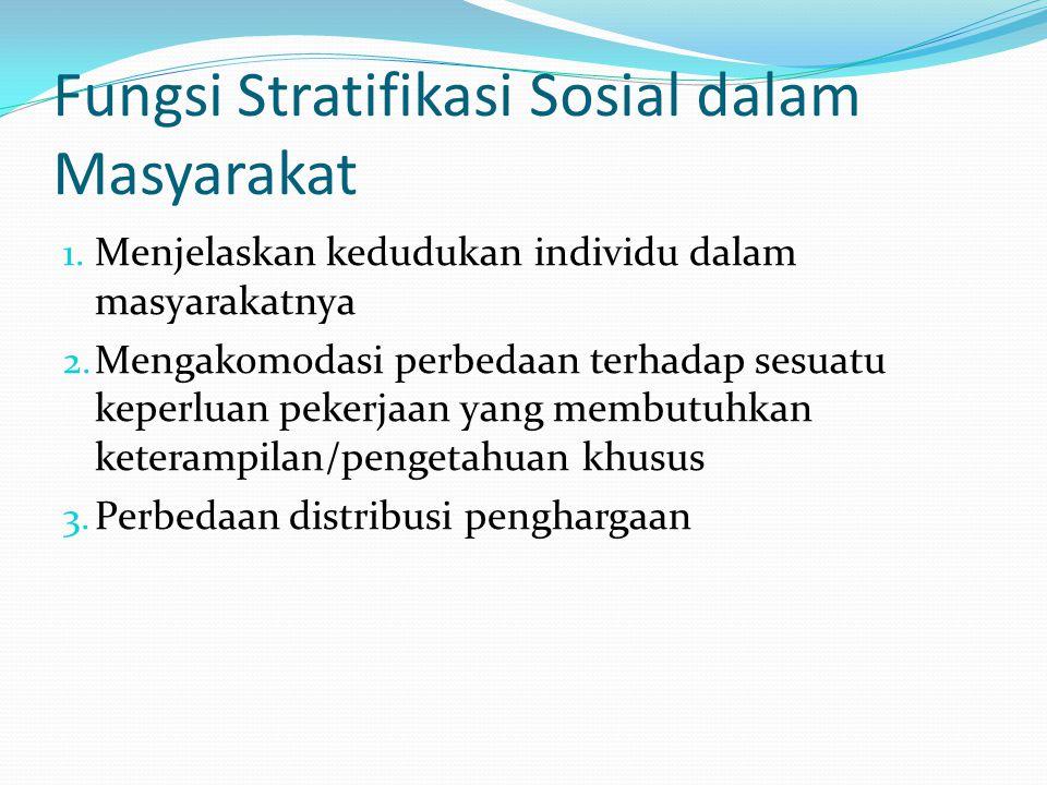 Fungsi Stratifikasi Sosial dalam Masyarakat