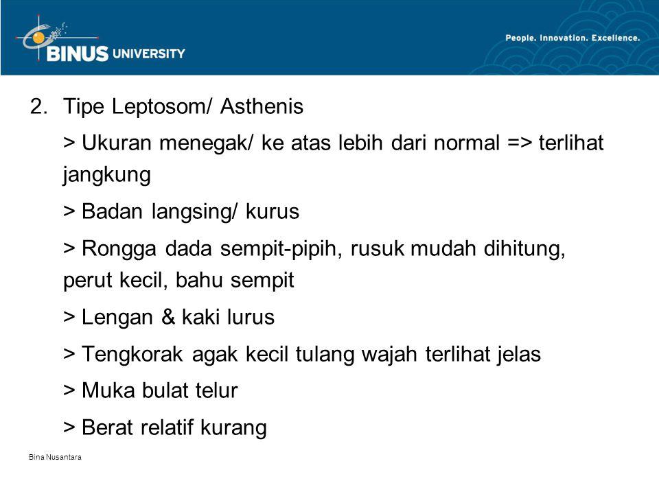 Tipe Leptosom/ Asthenis