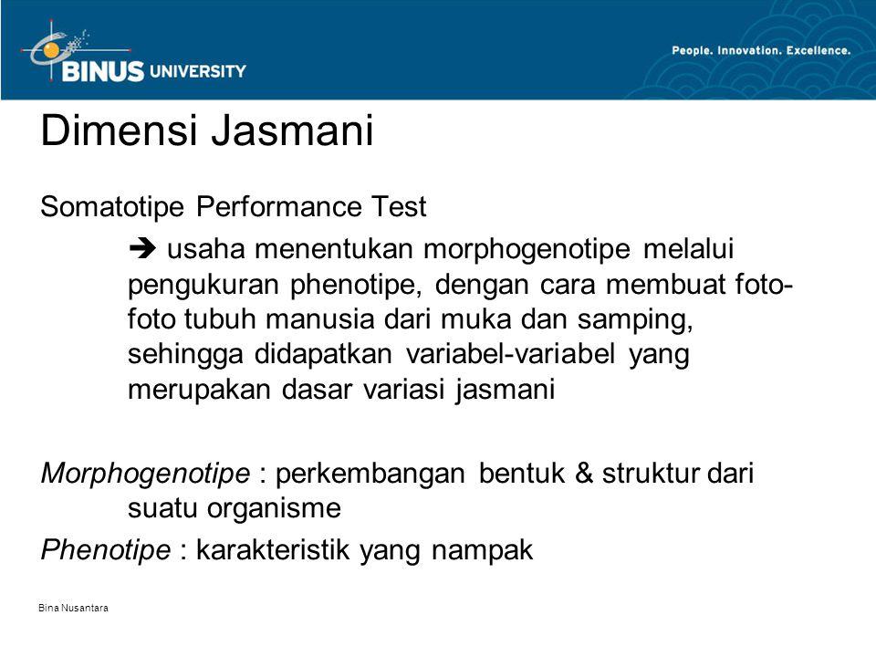 Dimensi Jasmani Somatotipe Performance Test