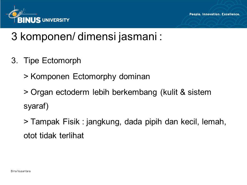 3 komponen/ dimensi jasmani :