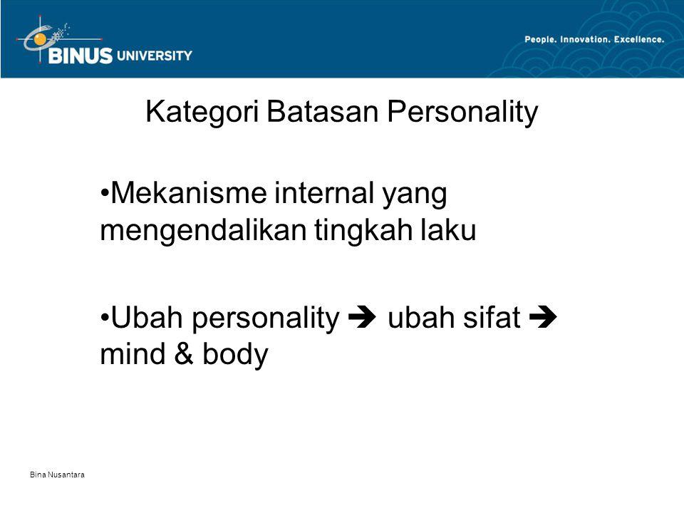 Kategori Batasan Personality