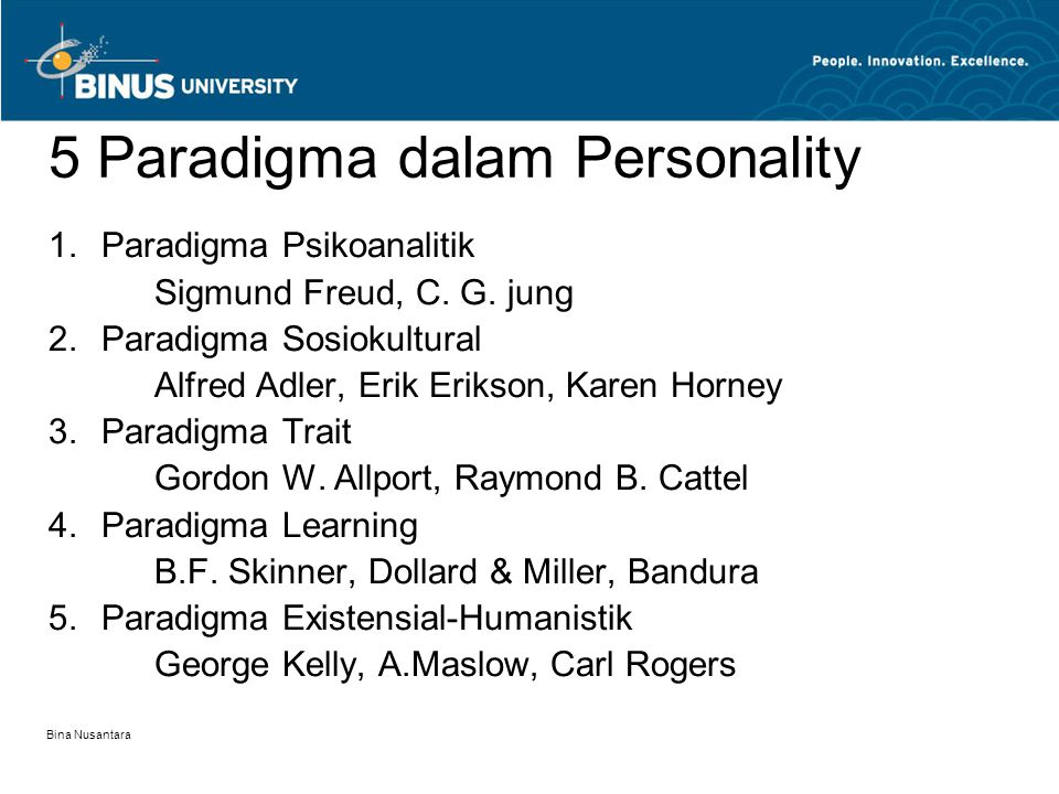 5 Paradigma dalam Personality