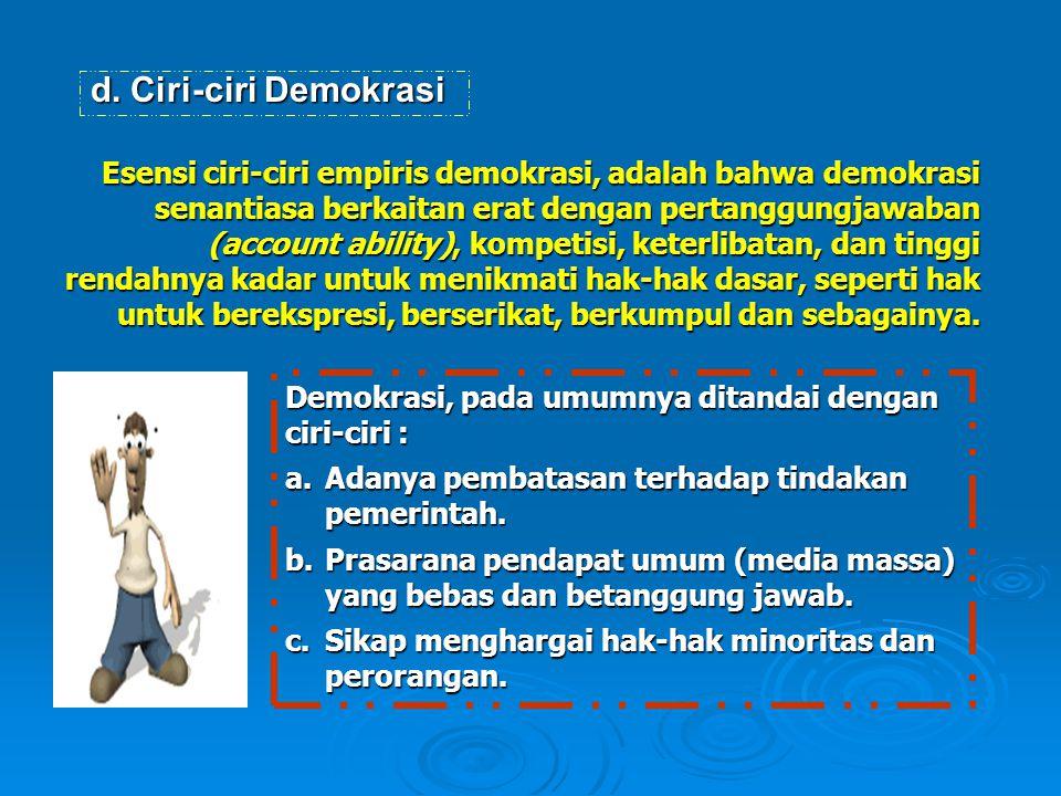 Ciri-ciri Demokrasi