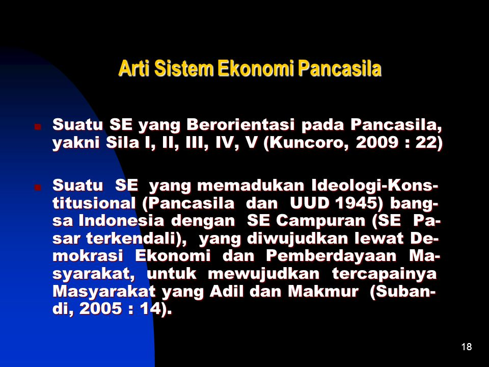 Arti Sistem Ekonomi Pancasila