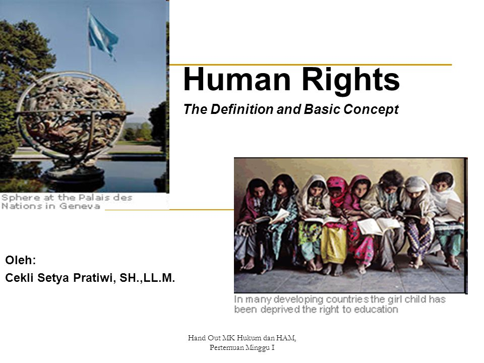 Human Rights The Definition and Basic Concept