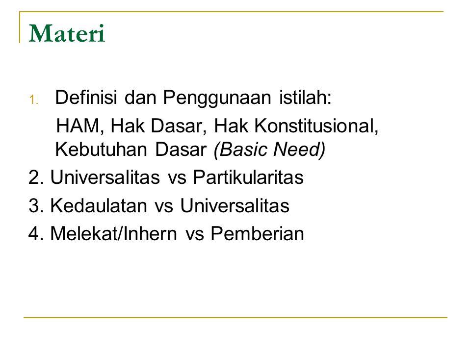 Materi Definisi dan Penggunaan istilah: